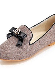 женская обувь круглого Toe плоский каблук бездельников обувь более цветов