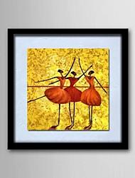 lino natural de madera sólida pinturas sin marco marco de la pintura de aceite personas abstractas pintadas a mano-