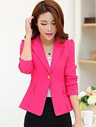 Women's Blue/Pink/Black/Yellow Blazer , Casual/Work Long Sleeve