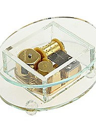 caixa de música de cristal presente presentes da dama de honra com brinquedos mola dourados (padrão aleatório)