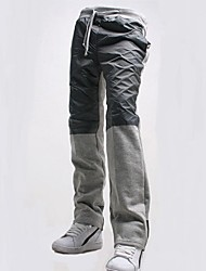 Men's Solid Casual / Sport Sweatpants,Cotton / Polyester Black / Gray