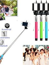 Selfie câble du support de poche monopode avec 3.5mm audio w / bouton de la télécommande - bleu