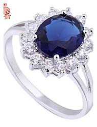 KUNIU Women's 18K Gold Plated Emerald  Elegant Jewelry Made with Austrian Crystal Ring J1513