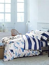 H&C ®   Cotton 100%  Duvet Cover Set 4 Pieces  Dolphin  Pattern  Cartoon Style for Kids