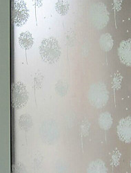Self-adhesive film to the glass window paper toilet translucent frosted opaque stickers bathroom dandelion cellophane