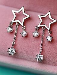 Drop Earrings Women's Sterling Silver Earring Rhinestone