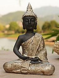 novidade tailândia sentado decoração buda, resina
