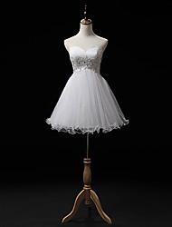 A-line Wedding Dress Knee-length Sweetheart Tulle