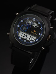 Men's Watch 30M Waterproof Diving Military Sports Watch Soft Leather Digital LED Wrist Watch (Assorted Colors)