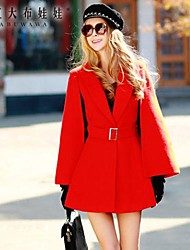 Pink Doll® Women's Fashion Elegant Woolen Coat