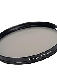 TIANYA 62mm CPL Circular Polarizer Filter for Pentax 18-135 18-250 Tamron 18-200mm Lens