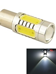 Carking™ Auto 1156 11W 5SMD LED Lens Rear Turn Tail Signal Light Lamp-White(12V 1PC)