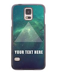 caja del teléfono personalizado - caso del diseño del triángulo de metal para i9600 Samsung Galaxy S5
