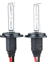 H7 35w 3200-lumen 6000k xenon hid witte koplampen voor de auto (zwart)