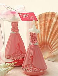 rosa rosa vestido de boda de la vela
