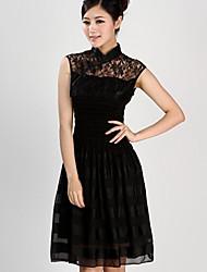 Женская Воротник Бад Шелковый Объединившись Мода Улучшенная китайской одежде