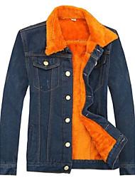 Men's Long Sleeve Coat , Denim Casual