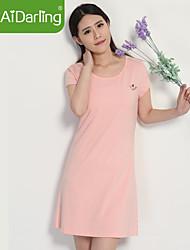 aidarling modal manga mobiliário de casa de pijama desgaste camisola curta de promoção das mulheres