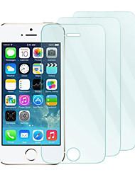 3pack 0.26mm protector de la pantalla de vidrio templado con un paño de microfibra para el iphone 5 / 5s / 5c