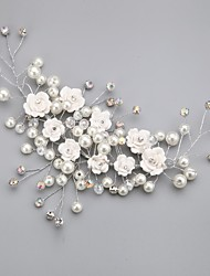 Women's Flower Girl's Crystal Alloy Imitation Pearl Headpiece-Wedding Special Occasion Outdoor Flowers
