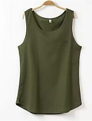 Camiseta (Algodão/Linho) Casual - Fina - Normal