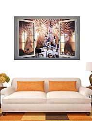 Adesivos de parede adesivos de parede 3d, fogos de artifício de parede decoração adesivos de vinil