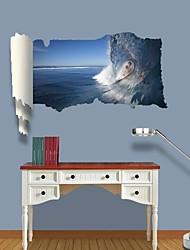 Adesivos de parede adesivos de parede 3d, parede de surf decoração adesivos de vinil