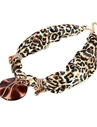rainso® novos lenços de chiffon de moda elegante estilo estampa de leopardo para mulheres