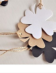 Leaf Kraft Paper Hang Tags Lables for Bookmark Gift Bakery Packaging Wedding Party Price Cards (50pcs/set,More Colors)