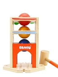 benho madeira de borracha bola estacionamento soco brinquedo de madeira educação