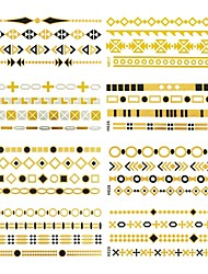 12 Pcs All Different Patterns Long Bracelets Tattoo Stickers (Random Patterns) 14x6 CM