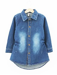 Girl's Denim Shirt , Spring/Fall Long Sleeve