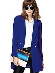 Slim manches longues costume milieu long manteau blazer femmes richcoco