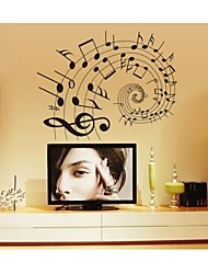 Luminous Wall Stickers Wall Decals, Style Music To Read Music Notes PVC Wall Stickers