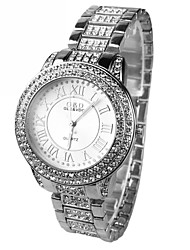 Women's Set auger Round Dial  Steel Band Quartz Wrist Watch Cool Watches Unique Watches