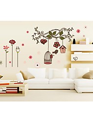 Wall Stickers Wall Decals, Style Bird Cage PVC Wall Stickers