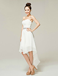 Cocktail Party Dress - White A-line Sweetheart Ankle-length Nylon Taffeta