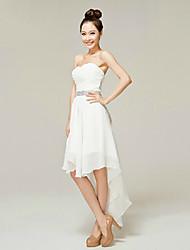 Cocktail Party Dress - White A-line Sweetheart Ankle-length Nylon Taffeta
