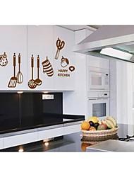 stickers muraux stickers muraux, de bande dessinée de style ustensiles de cuisine muraux PVC autocollants