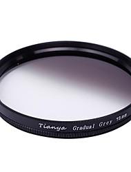 tianya® 72mm Kreis graduierten Graufilter für Canon 15-85 18-200 17-50 28-135 mm Objektiv