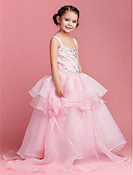 Ball Gown Floor-length Flower Girl Dress - Organza Sleeveless