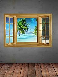 Adesivos de parede adesivos de parede 3d, parede palm beach decoração adesivos de vinil