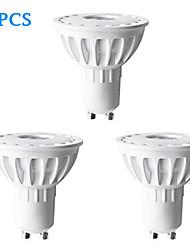 Spot Décorative Blanc Chaud H+LUX™ 3 pièces MR16 GU10 6 W 1 COB 350 LM 2700 K AC 100-240 V