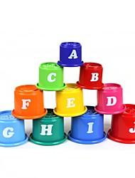 10-en-1 alfabeto Inglés apila tazas conjunto