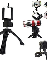 Portable High Quality Camera Tripod Holder with Cellphone Mount for iPhone,Samsung and Others