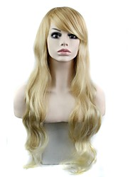 32 Inch Long Elegant Wave Heat Resistant Fiber Synthetic Celebrity Wig