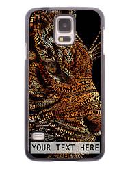 caja del teléfono personalizado - caso del diseño del tigre de metal para i9600 Samsung Galaxy S5