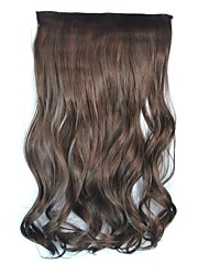 Clip Wave Hairpieces Synthetic Extensions (Dark Brown)
