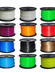pla 3d material de marca ctc filamento impresora 3d consumibles de impresión (1.75mm, 1kg)