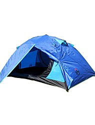 3-4 persons Tent Double Two Rooms Camping Tent 2000-3000 mmMoistureproof/Moisture Permeability Waterproof Breathability Rain-Proof